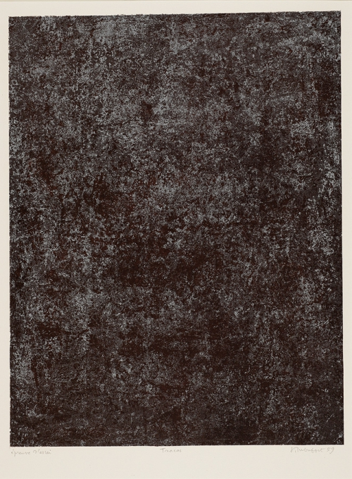 Tracas, Plate IX from Cadastre, les Phénomènes, Dubuffet