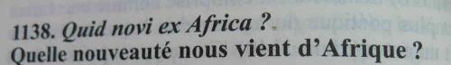 quelle nouveauté nous vient d'Afrique ?