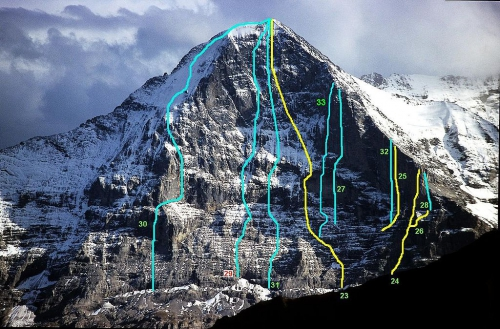 eiger, nordwand, hard routes, free climbing, paciencia